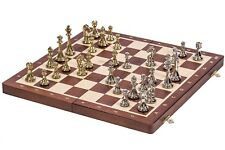 SQUARE - Chess Tournament No. 4  - Mahogany / Metal - Chessboard & Chess Pieces