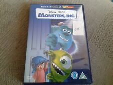 Monsters Inc DVD freepost  in good condition *