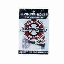 "Indy Independent Skateboard Truck Bolts Phillips Black 1.5"" New Free Delivery"