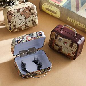 Mini Trolley Empty False Eyelash Box Packaging Case Box Luggage Portable Travel
