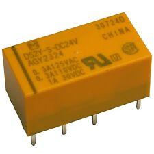 Panasonic DS2Y-S-24V Relais 24VDC 2xUM 2A 2880R 220VDC 250VAC Relay Print 854970