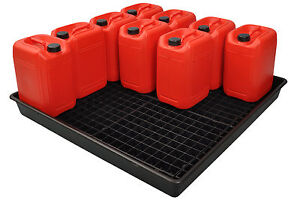 Oil Chemical Bunded Drip Sump Spill Pallet Tray  120litre / 16 x 25 litre