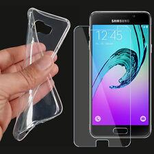TPU Silikon Schutzhülle für Samsung Galaxy A3 2017 mit Panzerglas Schutzfolie