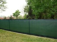 8FTx50FT PRIVACY FENCE SCREEN  W/BINDING & GROMMETS-85% BLOCKAGE