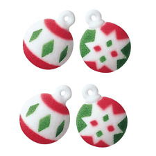 Sugar Decorations Cookie Cake Cupcake Winter Christmas LARGE ORNAMENTS 12 ct.