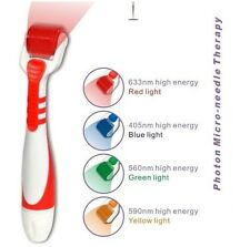 LED Vibrating Derma Roller Micro Needle- RED Light Size .50- Speeds Up Healing
