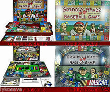 2 Griddly Headz Nascar Racing GamE AND BASEBALL BOTH GAMES NEW free shipping
