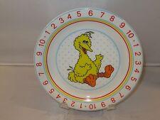 Sesame Street BIG BIRD NUMBERS Porcelain Child's Plate - EUC