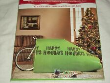 "Happy Holidays Giant Green Gift Bag Bike Big Birthday Sack Christmas 26"" Wheels"