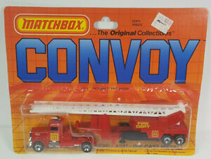 Peterbilt Fire Engine Matchbox Convoy Rigs Tractor Trailer Semi Truck Rare Vtg