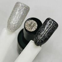 NEW 2020! GRATTOL OPAL 01 SILVER Gel Nail Polish Glitter Color Coat 9ml LED/UV