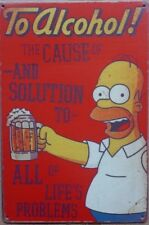 SIMPSONS Rustic Look Vintage Tin Metal Sign Man Cave, Shed-Garage & Bar Sign