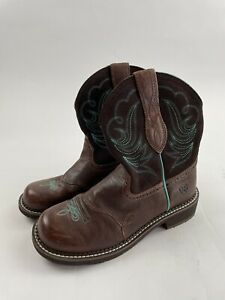 Ariat Women's Size 9.5 Fatbaby Heritage Dapper Western Leather Boots 10016238