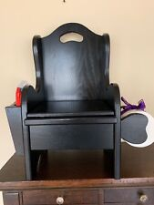 Brand New Black Childs Potty Training Chair w Holder Solid Wood Amish Made