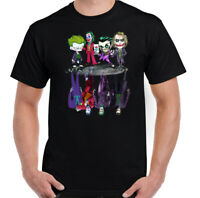 THE JOKER T-SHIRT, Mens Batman Suicide Squad Heath Ledger Villain Unisex Tee Top