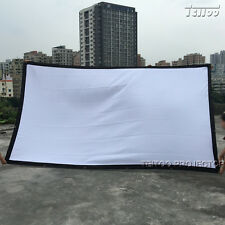 150 Inch 16:9 Factory Supply White Fabric Movie Projector Projection Screen Film