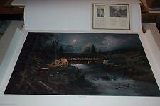 Jesse Barnes BRIDGE TO THE PAST S/N paper art print MINT w/COA Painter of Light