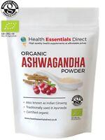 Organic Ashwagandha Powder (Superior Grade Indian Ginseng Roots) Choose Size
