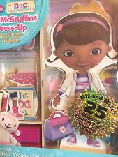 New DOC MCSTUFFINS Dress Up Magnetic Wood Doll Playhouse Clothes Girls Kids NEW