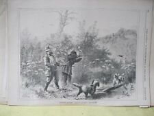 Vintage Print,WOODCOCK SHOOTING,Every Saturday,Nov.1870