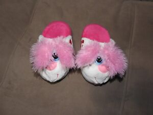 Stompeez! Perky Pink white Puppy Slippers s small bunny stompeez