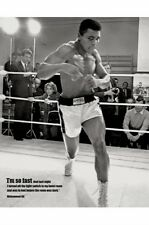"Muhammad Ali Mini Poster ""Licensed"" Brand New ""I Am So Fast"" Size 40cm X 50cm"