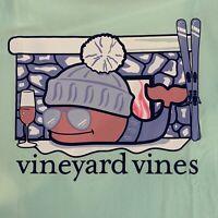 Vineyard Vines Womens Sz L Apres Ski Wine Whale L/S T-Shirt Mint Green~ NEW