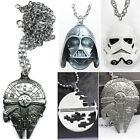 Star Wars (guerre des étoiles) MILLENIUM FALCON Dark MASQUE métal collier chaîne
