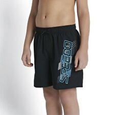 Speedo Boys Graphic  Swimming Swim Summer Beach Pool Shorts - Black/Blue/White