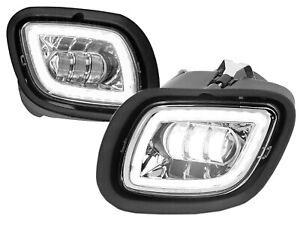 For 08-17 Cascadia Fog Light LED Halo Chrome Pair Passenger Right + Driver Left