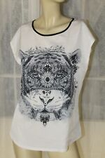SIZE S PORTMANS ANIMAL MOTIF WHITE TOP 🍭 FREE POST ON ANY 5 ITEMS