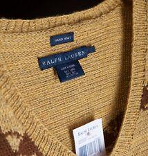 NWT Ralph Lauren Southwestern Aztec Navajo Hand Knit Linen Silk Sweater $598 M