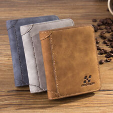 Hot Vintage Men's PU Leather Credit Card Holder ID RFID Blocking Trifold Wallet