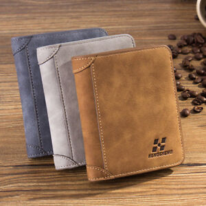 Men Luxury High Quality Leather Wallet Credit Card Holder Bifold Slim Purse s