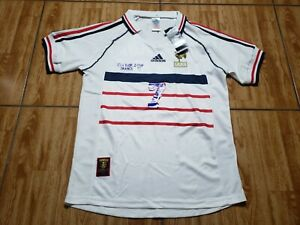 NEW Adidas France Didier Deschamps Soccer Jersey Adult Small White Futbol Mens