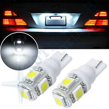 2 x HID Xenon White 5-SMD T10 168 194 2825 LED Bulbs For License Plate Lights