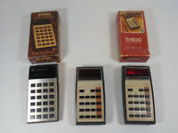 MIXED LOT 3 TEXAS INSTRUMENTS TI-1200 TI-1025 CALCULATOR NOT WORKING FOR PARTS