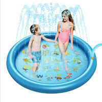 "67"" Inflatable Sprinkle Splash Play Mat Pad Outdoor Kids Water Spray Fun Pool"
