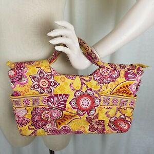 Vera Bradley Bali Gold Gabby Bag Shoulder Handbag Tote Large Purse Quilted