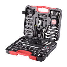 Professional 186 Pieces Metric Home Repair Tool Kit Carbon Steel Household Set