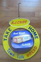 Vintage A. J. Cripe Town Talk Bread Grocery Store Advertising Piece