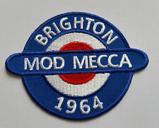 NORTHERN SOUL MUSIC SEW ON / IRON ON PATCH:- MOD MECCA BRIGHTON 1964 (a) Small