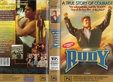 RUDY: HEART OF A HERO - VHS - PAL - NEW - Never played! - Original Oz release