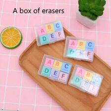 6Pcs Box-packed Creative English Letter Eraser Office Supplies Stationery School