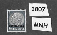 1940 Stamp  MNH PF04 / Luxembourg Overprint Hindenburg  / German Occupation WWII