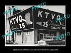 OLD LARGE HISTORIC PHOTO OF OKLAHOMA CITY, THE KTVQ TELEVISION STATION c1950