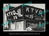 OLD LARGE HISTORIC PHOTO OF OKLAHOMA CITY, THE KTVQ TELEVISION STATION c1950