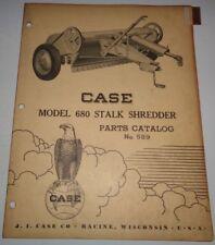 Case 680 Stalk Shredder Parts Catalog Manual book Original!
