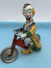 #Seltener 264 Technofix Clown Mit Fahrrad US-Zone Germany (65722) Blechspielzeug