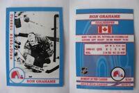 2015 SCA Ron Grahame Quebec Nordiques goalie never issued produced #d/10